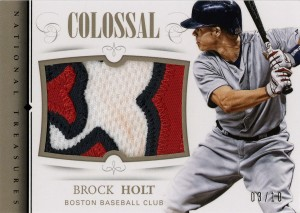 2014_Panini_NatTres_Brock_Holt_Colossal_Patch_03-10