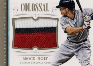 2014_Panini_NatTres_Brock_Holt_Colossal_Patch_11-25