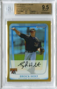 2011_BChrome_Holt_GoldRef_50_Beckett_95