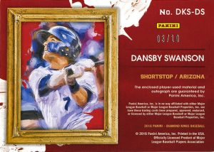 2016_DiamondKings_Dansby_Swanson_RelicAuto_3-10_back